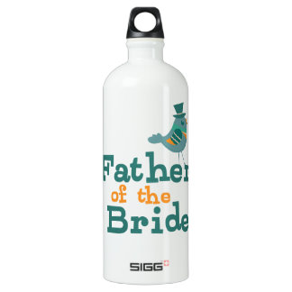 Father of the Bride Aluminum Water Bottle