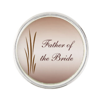 Father of the Bride Autumn Harvest Lapel Pin