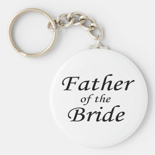 Father Of The Bride Basic Round Button Keychain