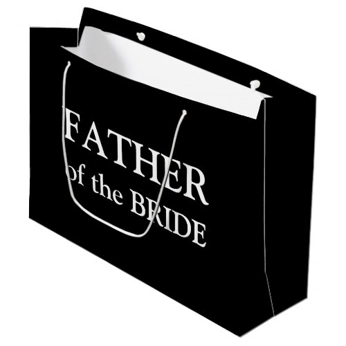 Father of the Bride Black White Large Gift Bag