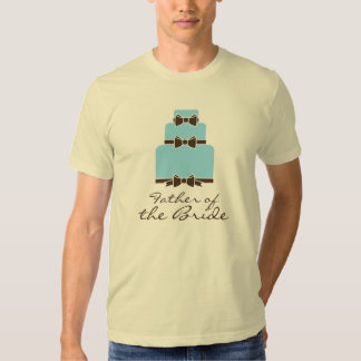 Father of the Bride Blue and Brown Wedding Cake T Shirt