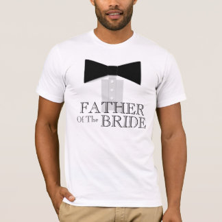 Father of the Bride Bow Tie T-Shirt