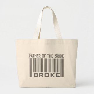 Father of the Bride Broke Jumbo Tote Bag