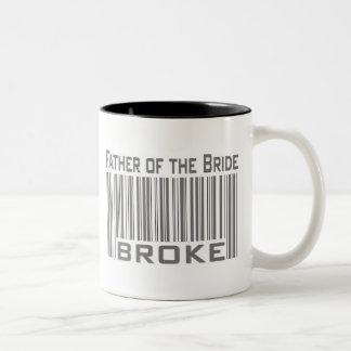 Father of the Bride Broke Two-Tone Coffee Mug