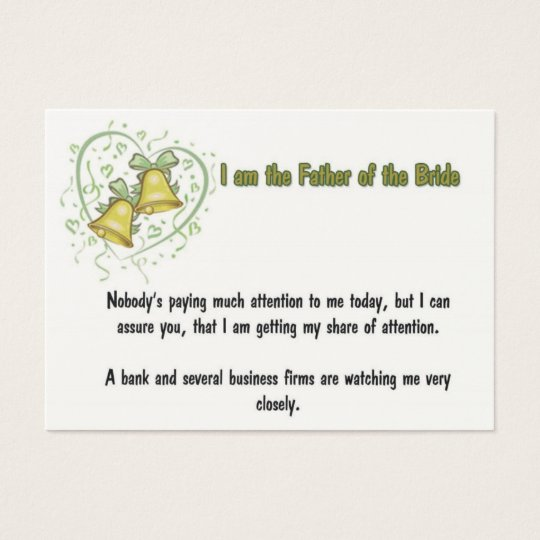 Father Of The Bride Business Card