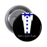 Father Of The Bride Button (Blue)
