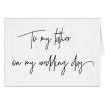 Father of the Bride Card