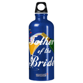 Father of the Bride Champagne Toast Aluminum Water Bottle