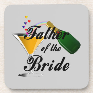 Father of the Bride Champagne Toast Beverage Coaster