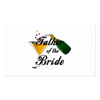 Father of the Bride Champagne Toast Business Card