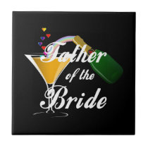 Father of the Bride Champagne Toast Ceramic Tile