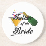 Father of the Bride Champagne Toast Beverage Coasters