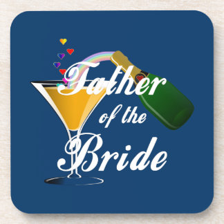 Father of the Bride Champagne Toast Coaster