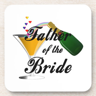 Father of the Bride Champagne Toast Drink Coaster