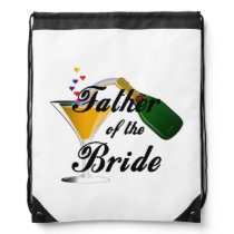 Father of the Bride Champagne Toast Drawstring Backpack