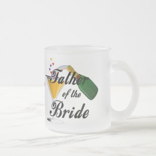 Father of the Bride Champagne Toast Frosted Glass Coffee Mug