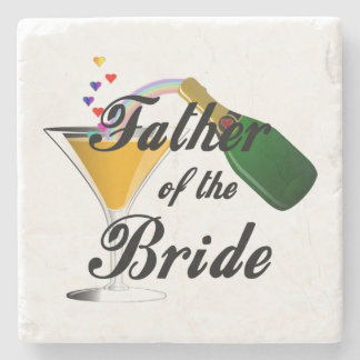 Father of the Bride Champagne Toast Stone Coaster