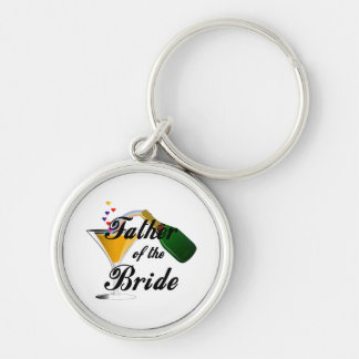 Father of the Bride Champagne Toast Key Chains