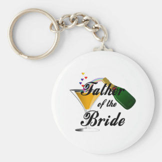 Father of the Bride Champagne Toast Keychain
