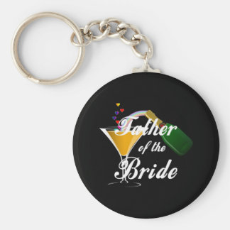 Father of the Bride Champagne Toast Keychains