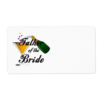 Father of the Bride Champagne Toast Label