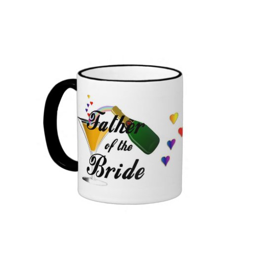 Father of the Bride Champagne Toast Ringer Coffee Mug