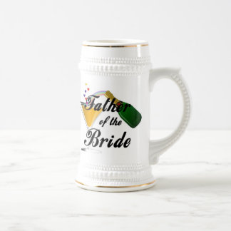 Father of the Bride Champagne Toast 18 Oz Beer Stein