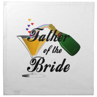 Father of the Bride Champagne Toast Napkin