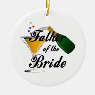 Father of the Bride Champagne Toast Ornaments