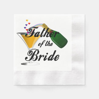 Father of the Bride Champagne Toast Paper Napkin
