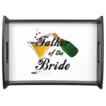 Father of the Bride Champagne Toast Serving Platter