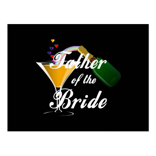 Father of the Bride Champagne Toast Postcard