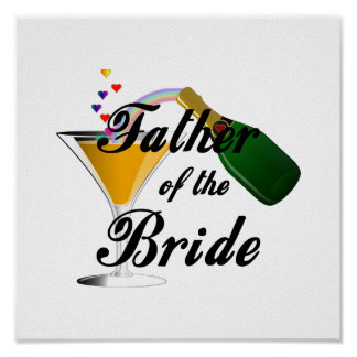 Father of the Bride Champagne Toast Poster
