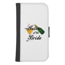 Father of the Bride Champagne Toast Samsung S4 Wallet Case