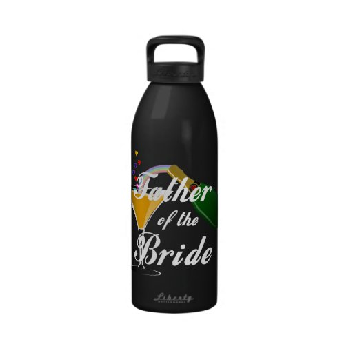 Father of the Bride Champagne Toast Reusable Water Bottle