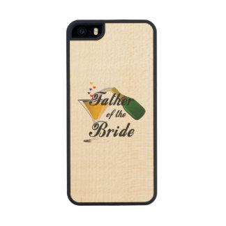Father of the Bride Champagne Toast Wood Phone Case For iPhone SE/5/5s