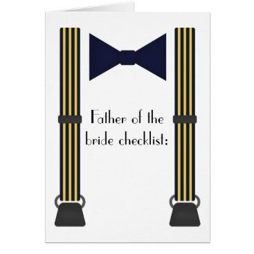 Wedding Themed Father of the bride checklist card