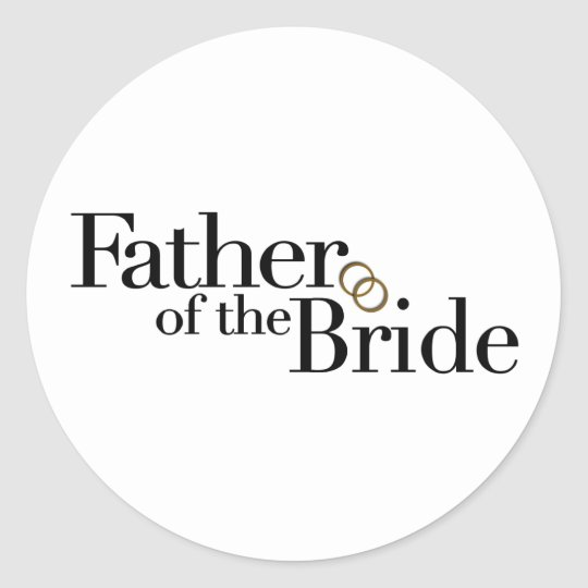 Father Of The Bride Classic Round Sticker