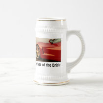 Father of the Bride Corvette Beer Stein