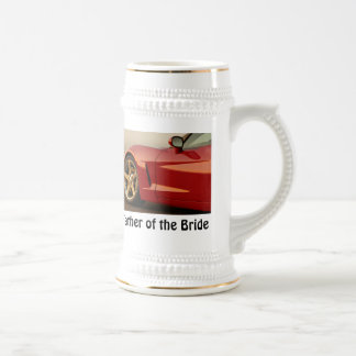 Father of the Bride Corvette 18 Oz Beer Stein