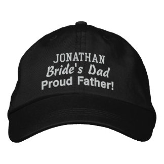 Father of the Bride Custom Name BLACK Embroidered Baseball Hat