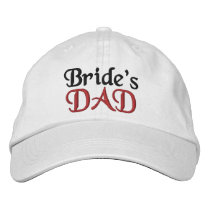FATHER of the BRIDE Custom Name WHITE A07C6 Embroidered Baseball Cap