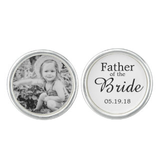 Father of the Bride Custom Photo Cufflink