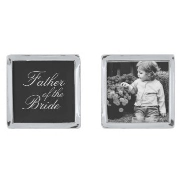 heartlocked Father of The Bride Custom Photo Cufflinks