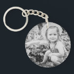 """Father of the Bride Custom Photo Keychain<br><div class=""""desc"""">This is a great Father of the Bride Gift from the Bride.  Your custom photo on one and &quot;Father of the Bride&quot; with wedding date on the other. (white background with black lettering)</div>"""