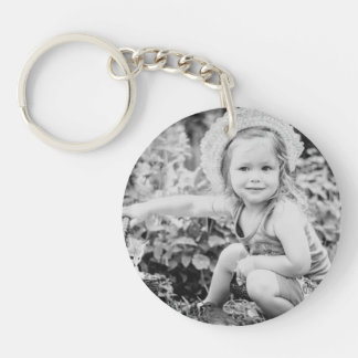 Father of the Bride Custom Photo Keychain