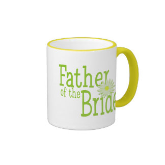 Father of the Bride/ Daisy Ringer Coffee Mug