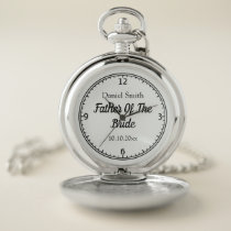 Father of the Bride Elegant Personalized Pocket Watch