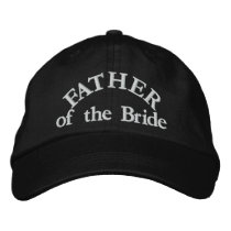 Father of the Bride Embroidered Hats