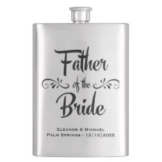 Father Of The Bride - Funny Wedding Party Gift Hip Flask at Zazzle